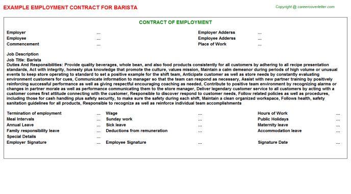 Starbucks Barista Employment Contracts