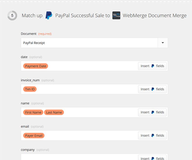 Send Customized Payment Receipts from PayPal | WebMerge