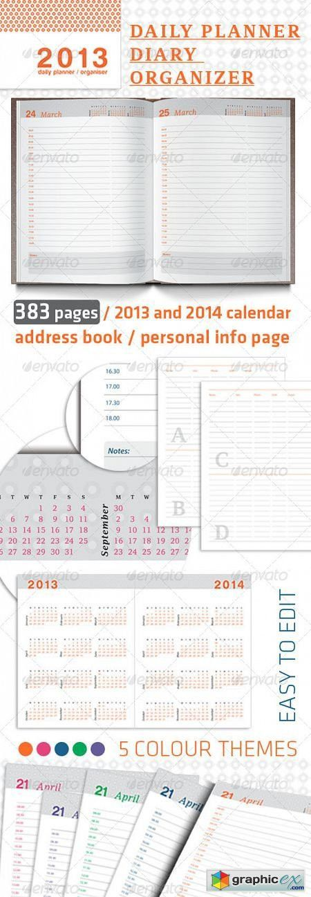 Daily Planner, Organizer and Diary 2013 » Free Download Vector ...
