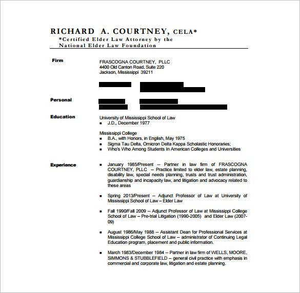 Lawyer Resume 20 Example Resume Attorney Civil Litigation ...
