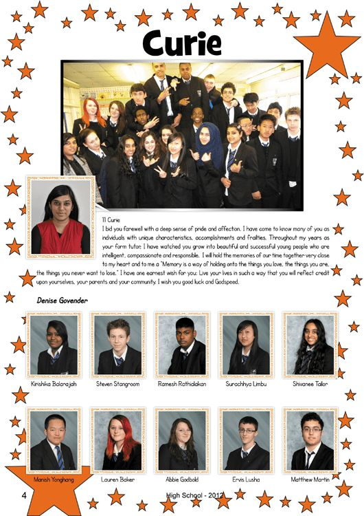 Year 11 Yearbook Sample Pages | Hardy's Yearbooks