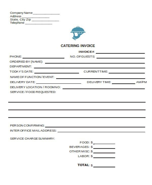 6+ Catering Receipt Templates - Free sample, Example Format ...