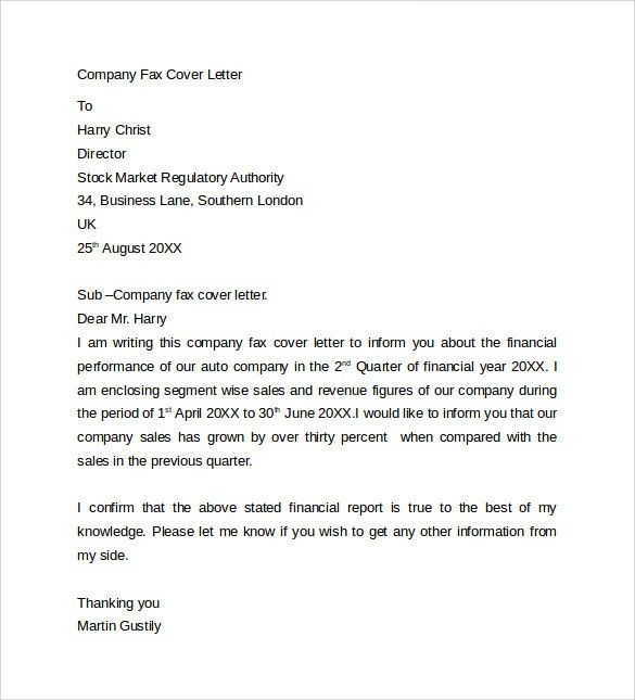 Attractive Ideas Fax Cover Letter Examples 8 Sheet Blank Business ...