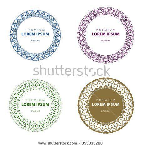 Vector Set Abstract Frames Logo Templates Stock Vector 296249123 ...
