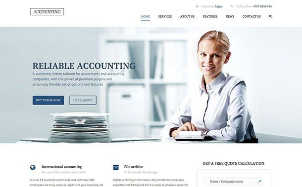 10 Best WordPress Themes for Accountants 2017 - aThemes
