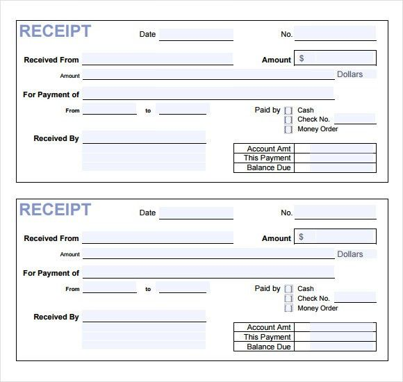 Payment Receipt Templates –9+ Free Examples , Samples , Format