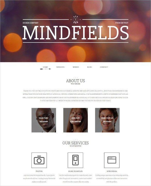 36+ Portfolio Website Themes U0026 Templates | Free U0026 Premium Templates  Company Portfolio Template