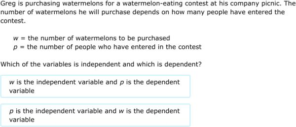 IXL - Identify independent and dependent variables (7th grade math ...