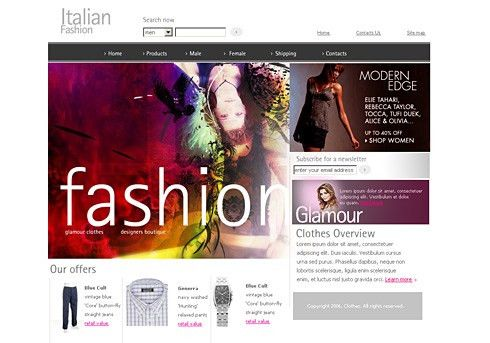 Fashion Web Template - 0967 - Beauty & Fashion - Website Templates ...