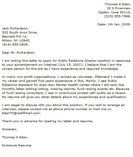 Public Relations Cover Letter Examples   Cover Letter Now Amazing Design
