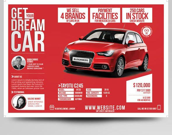 Auto Sales Flyer Templates   Marketing Ideas For Car Dealers | YOGNEL  Car For Sale Flyer Template