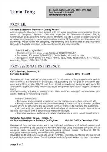 Download Professional It Resume Samples | haadyaooverbayresort.com