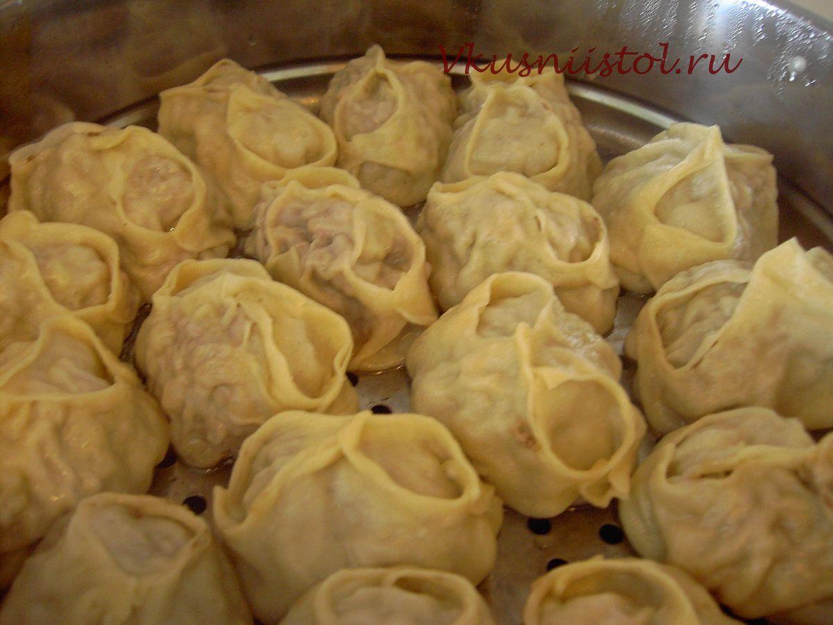 Манты с картошкой и салом рецепт пошагово