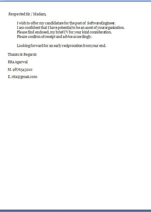 Font Size Cover Letter