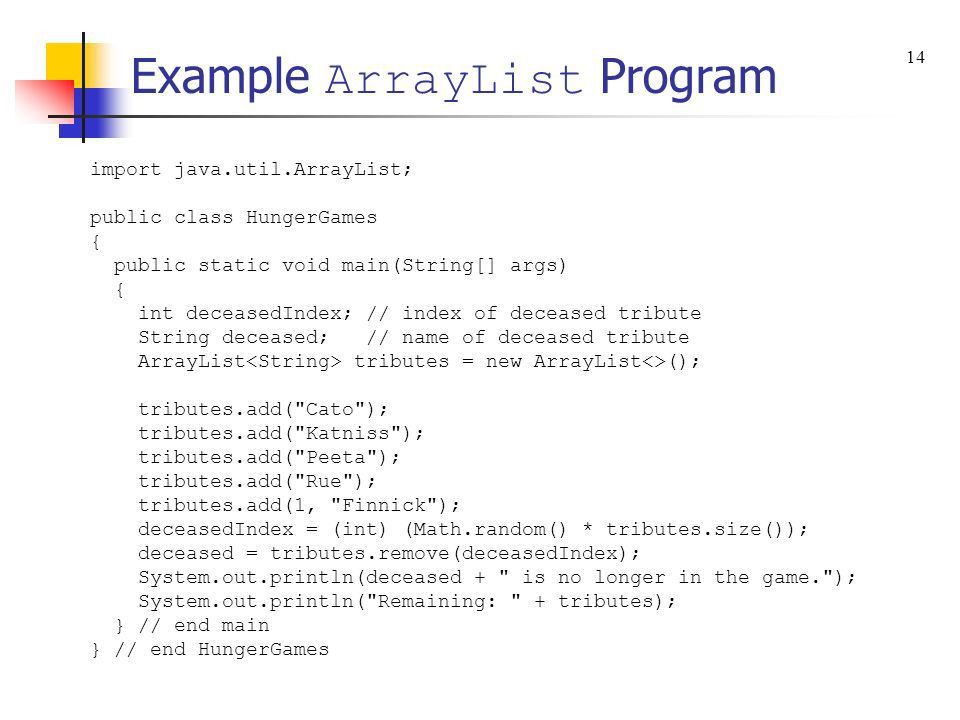 Chapter 10 – ArrayList s and an Introduction to the Java ...