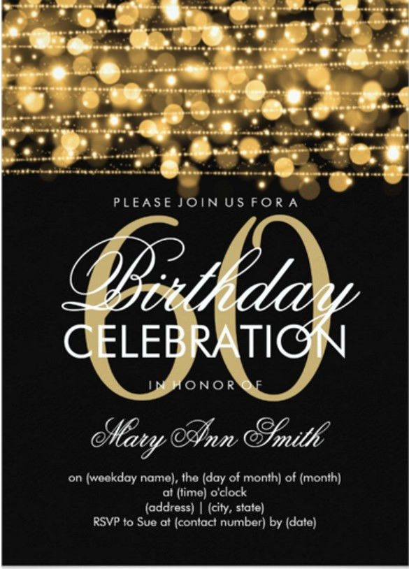 60th Birthday Invitations - Themesflip.Com