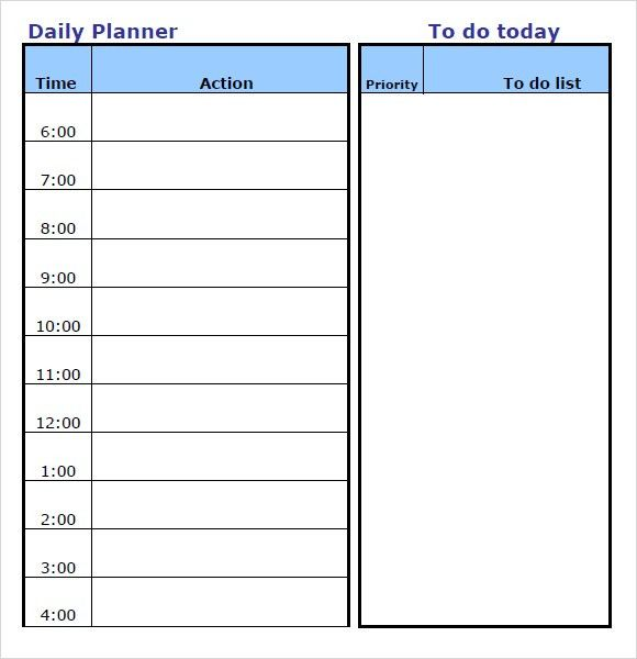 10+ Daily planner templates - Word Excel PDF Formats