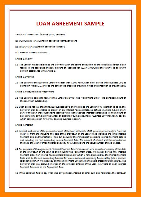 6+ loan document templates | student resume template