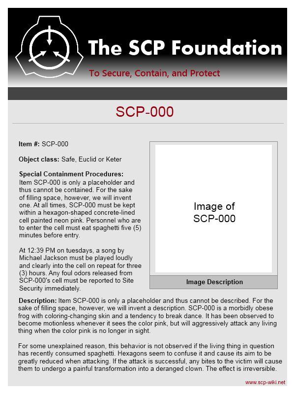 SCP EXAMPLE - alisen berde
