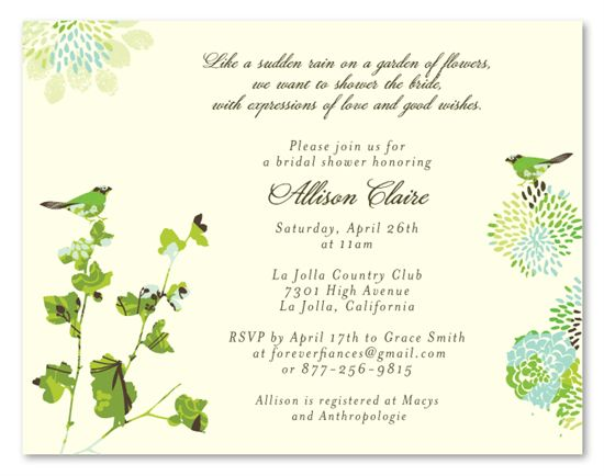 Garden Theme Bridal Shower invitations ~ Nature's Glory by ...