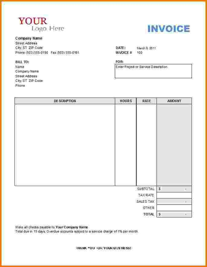 10+ formal invoice template | Financial Statement Form
