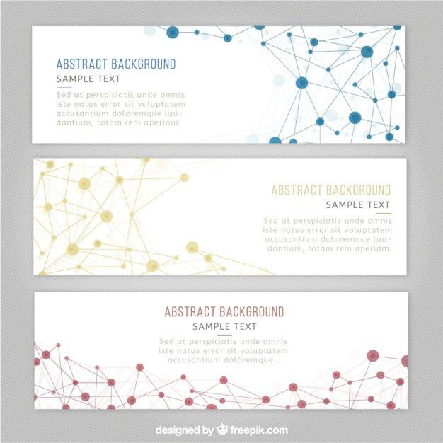Science banner templates Vector | Free Download