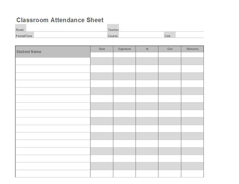 Attendance Sheet Access Template