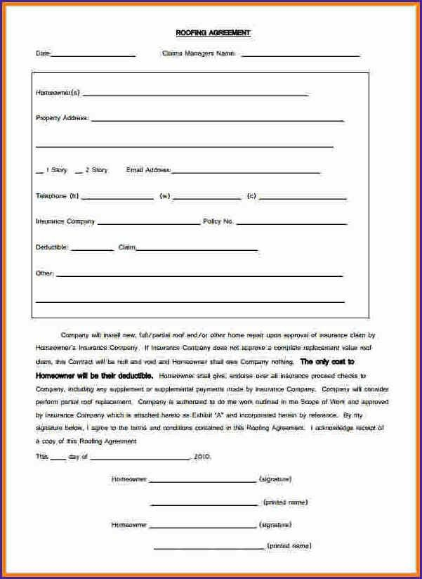 FREE RESIDENTIAL ROOFING CONTRACT TEMPLATE ...
