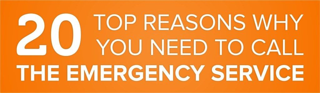 Top Reasons Why You Need To Call The Emergency Services