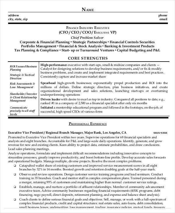 Finance Resumes Download - 24 Free Word, PDF Documents Download ...