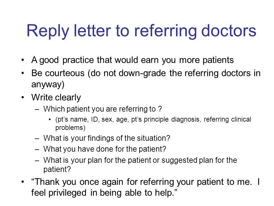 How to write a surgical correspondence? - ppt download