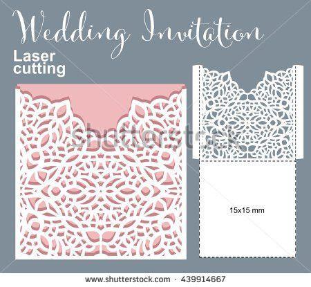 Vector Die Laser Cut Envelope Template Stock Vector 439914667 ...