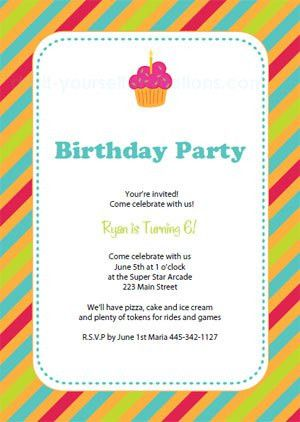 Free Printable Birthday Party Invitation Templates