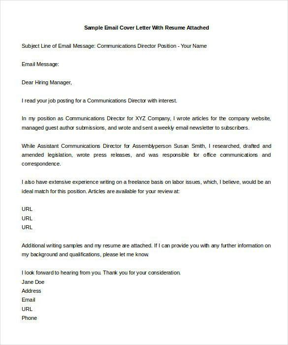 Email Cover Letter Template | Template Design