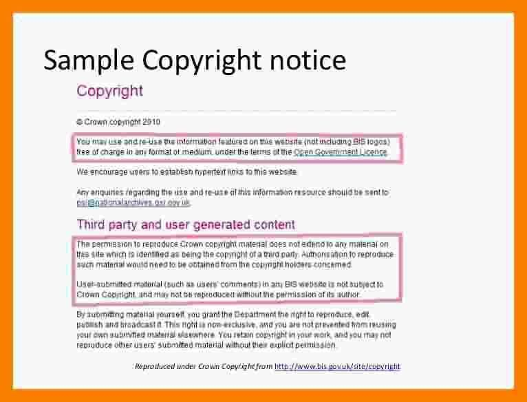 4+ copyright notice example | biology resume