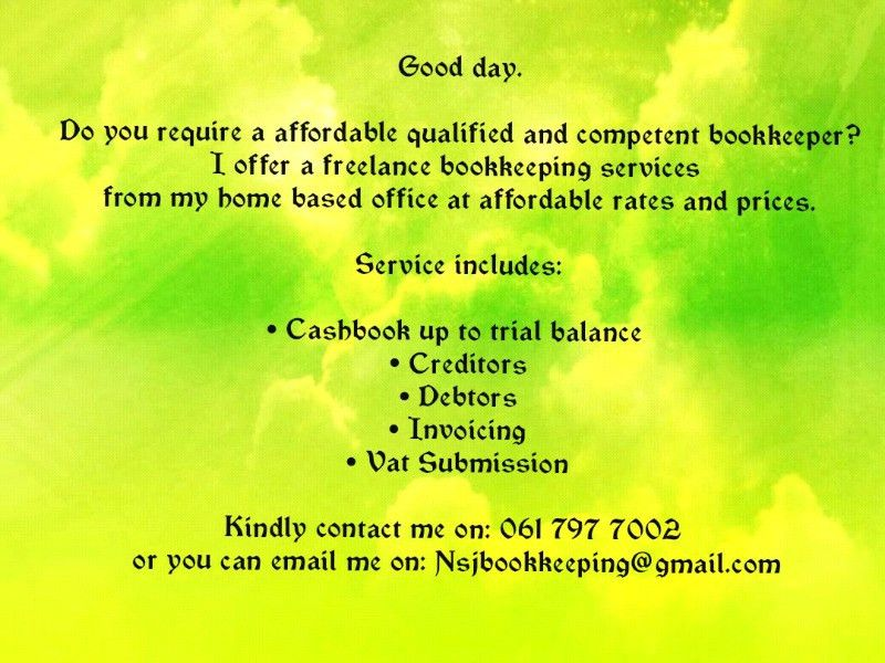 Freelance bookkeeper | Kempton Park | Gumtree Classifieds South ...
