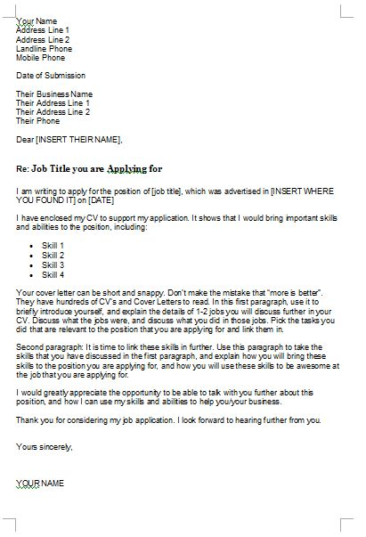 Clever Cover Letter Examples - Resume CV Cover Letter