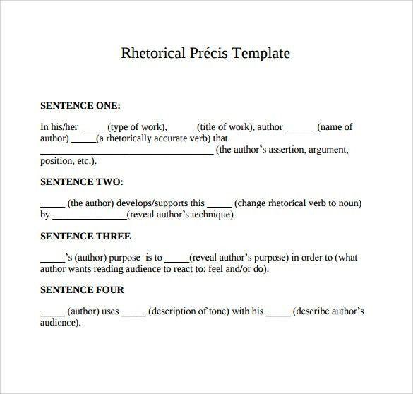 Precis Example] How To Write A Critical Precis Your Professor Will ...