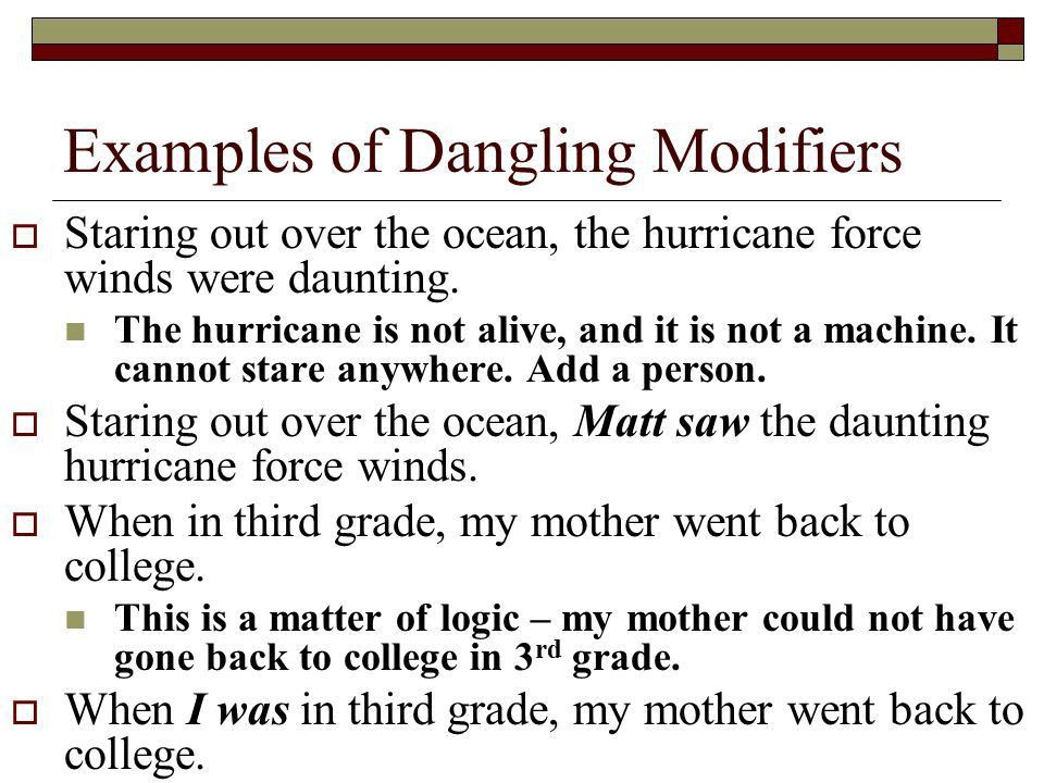 Misplaced and Dangling Modifiers . - ppt video online download