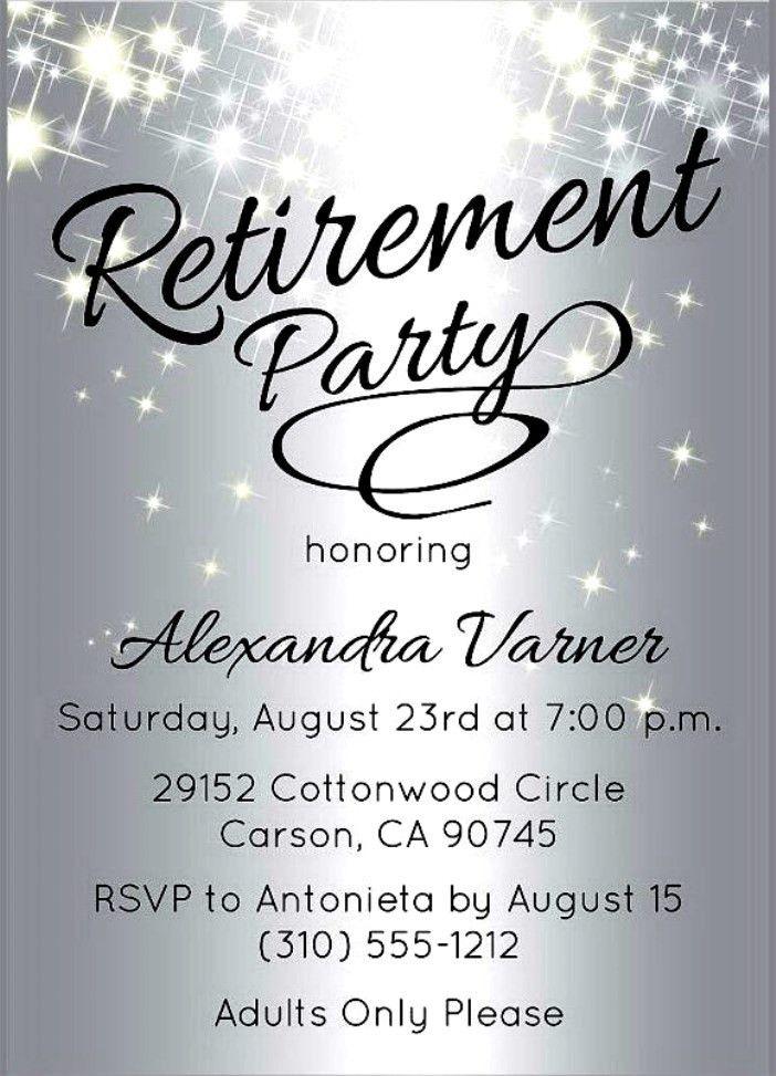Retirement Invitation Templates Free - Themesflip.Com