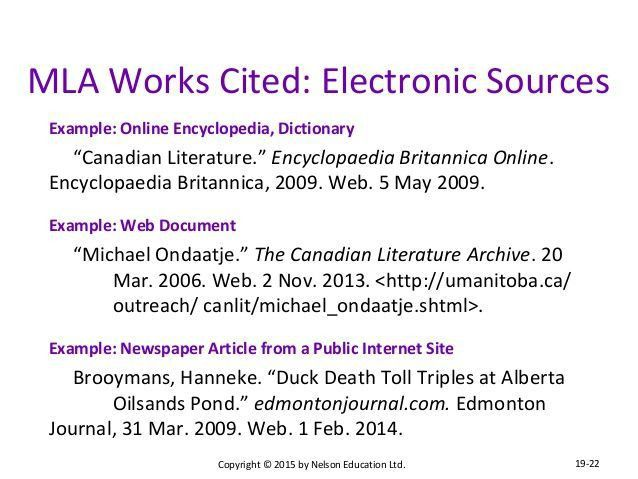 works cited mla format web sources - Google Search: | study skills ...