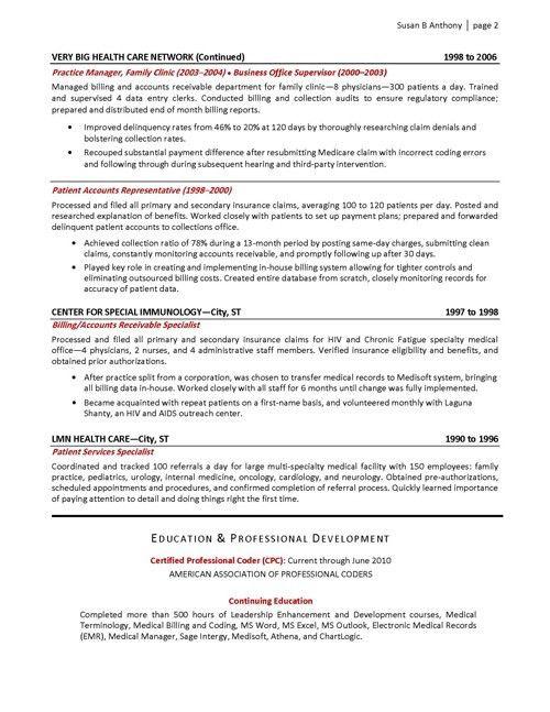 Office Administrator Resume Sample Medical Billing Manager Inside ...
