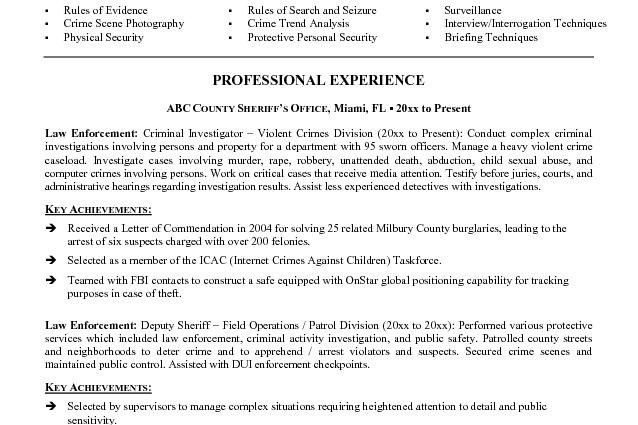 police officer resume templates free Microsoft Word JK Law ...