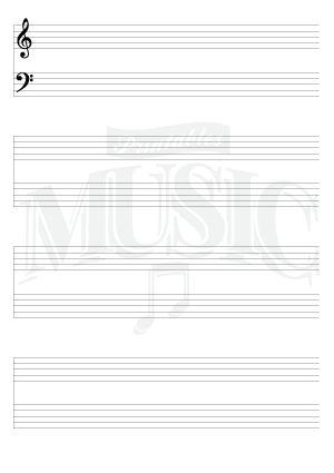 Blank Sheet Music Grand Staff FREE - AIHS
