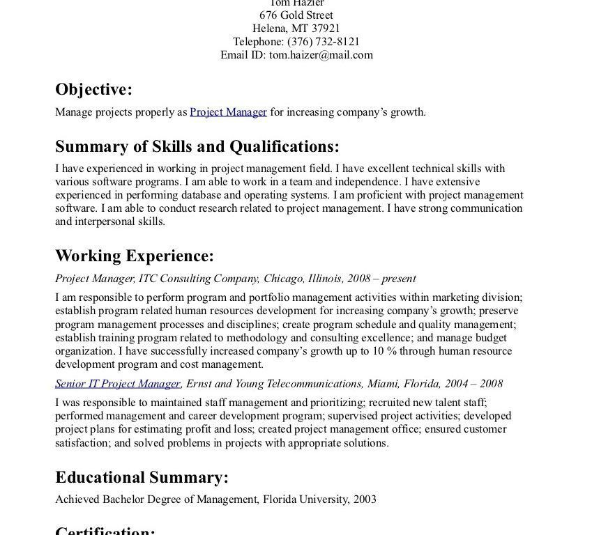 Enjoyable Good Resume Objective Statement 3 Objectives Statements ...