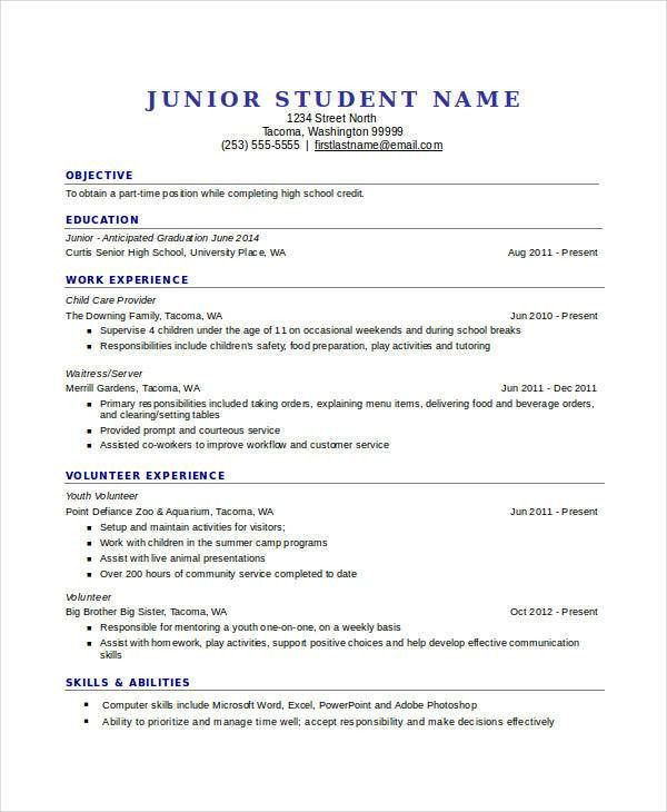 high school resume templates resume format download pdf ...