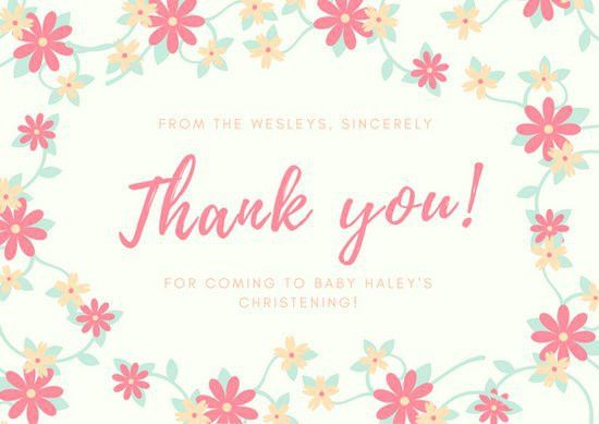 thank you card template word | Automotive