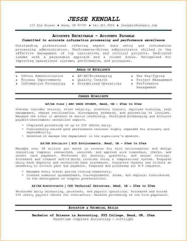 Accounts receivable resume templates - Business Proposal Templated ...