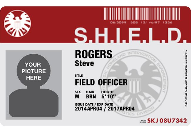 Get Your Personalized S.H.I.E.L.D. ID Card for Free ...