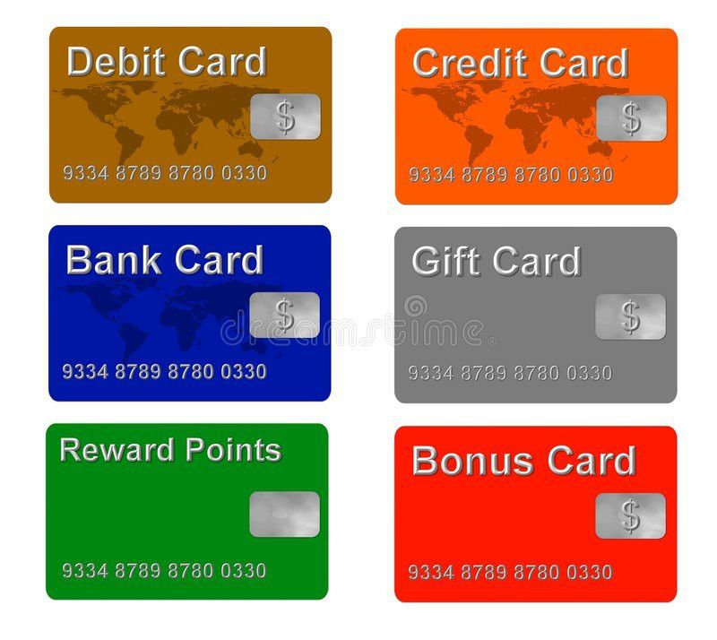 Sample Credit And Gift Cards Stock Photography - Image: 5780652